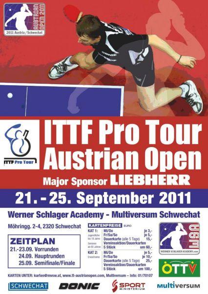 ITTF Pro Tour Austrian Open 2001, постер про-тура в Австрии